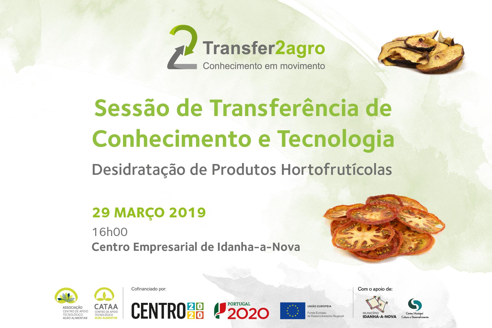 Sessão de Transferência de Conhecimento e Tecnologia   Idanha-a-Nova  29 março 2019